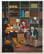 Nicole Eisenman, &quot;Tea Party,&quot; 2011. Oil on canvas, 82 x 65 inches. Hort Family Collection. Courtesy of Susanne Vielmetter Los Angeles Projects. Photo: Robert Wedemeyer.