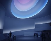 "James Turrell, rendering for ""Aten Reign,"" 2013. Daylight and LED light. Site-specific installation, Solomon R. Guggenheim Museum, New York. © James Turrell. Rendering: Andreas Tjeldflaat, 2012. © Solomon R. Guggenheim Foundation."