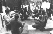 Active-Passive Exercises at the Creativity Exercises course by Miklós Erdély and Dóra Maurer, 1975–77. Photo: Tamás Papp. Courtesy of the Miklós Erdély Foundation, Budapest.