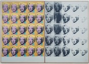 Andy Warhol, Marilyn Diptych, 1962. Acrylic paint on canvas, support (each): 2054 x 1448 x 20 mm. © 2014 The Andy Warhol Foundation for the Visual Arts, Inc. / Artists Rights Society (ARS), New York and DACS, London.