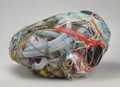 Judith Scott, Untitled, 2004. Fiber and found objects, 28 x 15 x 27 inches (71.1 x 38.1 x 68.6 cm). The Smith-Nederpelt Collection. © Creative Growth Art Center. Photo: Brooklyn Museum.