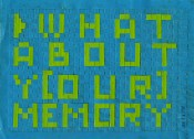 Ioana Nemeș, WHAT ABOUT Y[OUR] MEMORY, 2002. Paper object, 18 x 24 cm. Iosif Király collection.