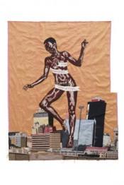 Billie Zangewa, The Rebirth of the Black Venus, 2010. Silk tapestry, 127 x 130 cm. Private collection.