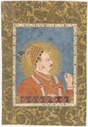 Maharaja Ajit Singh of Jodhpur at the Jharokha Window. c. 1740–50. One of the 98 Indian Miniature Paintings from James Ivory's Collection that has been acquired by Louvre Abu Dhabi.