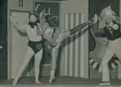 "Xanti Schawinsky, Untitled, 1928. Scene from Olga-Olga. B/W photograph, 17.5 x 23.6 cm. Photo: Theodor Lukas ""Lux"" Feininger. Courtesy of the Estate of T. Lux Feininger."