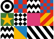 Design motifs from Sir Peter Blake's Everybody Razzle Dazzle, 2015.