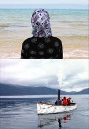 Top: Sophie Calle,Voir la mer(detail), 2011. Bottom: Simon Starling,Autoxylopyrocycloboros, 2006.*