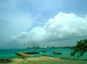 View of abandoned oil facilities, Aruba, June 2014. Photo: María Elena Ortiz.