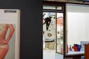 Left: centrefold by Lynda Benglis published in Artforum, November 1974. Photo: Arthur Gordon, as found in the library of the Oldenburg University, Germany. Right: installation view, Who do you love?, Mathew, Berlin, 2014. Photo: Ilya Lipkin.