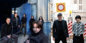 The teams of (L) Visual Culture Research Center and (R) Athens Biennale. Photos: Oleksandr Techynskyi / Spyros Staveris.