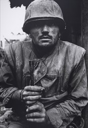 Don McCullin, Shell Shocked US Marine, Vietnam, Hue 1968, printed 2013. © Don McCullin. Courtesy Hamiltons Gallery, London.