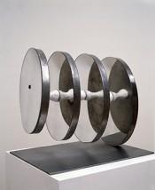 Teresa Serrano, Umbilical Cord #3, 1993. Aluminum, ceramic and mirror. Collection of the artist.