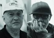 Left: Georg Baselitz. Photo: Martin Müller. Right: Paul McCarthy. Photo: Leigh Ledare.