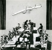"Mieczysław Berman, The Cabinet in Session, from the series ""This is how it was,"" 1944. Photomontage, 34.5 x 35 cm."