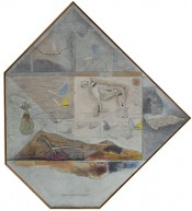 Alexandru Chira, Poem Colet (Package Poem), 1974. Oil on canvas, 115 x 103 cm. Courtesy of Irina Chira. Photo: Andrei Petrescu.