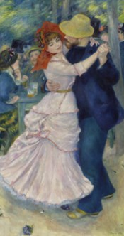 Pierre-Auguste Renoir, Dance at Bougival, 1883. Courtesy Museum of Fine Arts, Boston.