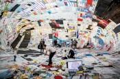 View of Tomás Saraceno:Becoming Aerosolar, 21er Haus / Belvedere, Vienna, 2015. Courtesythe artist, Esther Schipper Gallery, Berlin; Pinksummer contemporary art, Genoa; Tanya Bonakdar Gallery, New York; Andersen's Contemporary, Copenhagen. © 21er Haus, 2015.