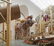 Phyllida Barlow, dock, 2014. Duveen Commission, Tate Britain, London, 2014. Courtesy the artist and Hauser & Wirth. Photo: Alex Delfanne.