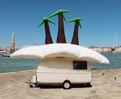 The Maldives Exodus Caravan Show, Venice Biennale, 2013. Image courtesy Søren Dahlgaard.