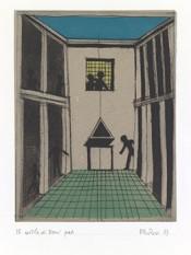 Aldo Rossi, The courtyard of broni, 1987. © Eredi Aldo Rossi.