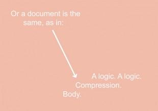 Ruth Buchanan, Compression, Body, Logic, 2015. Graphic. Courtesy Ruth Buchanan and Hopkinson Mossman, Auckland.