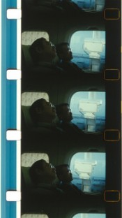João Maria Gusmão and Pedro Paiva, Sleeping in a bullet train, 2015. 16mm film, color, no sound, 8:08 minutes.