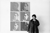 "Ai Weiwei, At the Museum of Modern Art, 1987, from the series ""New York Photographs,"" 1983-93. Collection of Ai Weiwei. © Ai Weiwei; Andy Warhol artwork © 2015 The Andy Warhol Foundation for the Visual Arts, Inc./ARS, New York. Licensed by Viscopy, Sydney."