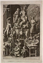 Cornelis Cort, The Practice of the Visual Arts, 1578 (engraved 1573). Georgianna Sayles Aldrich Fund. Collection of RISD Museum.