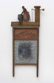 Betye Saar, Sunnyland (On the Dark Side), 2008. Mixed media on vintage washboard, 85 x 40.5 x 6.5 cm.*