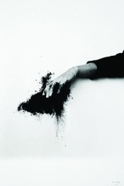 Helena Almeida, Saída negra (Black Exit) (detail), 1995.