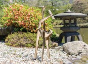 Isamu Noguchi, Strange Bird, (1945, cast 1971). Bronze. Installation in Brooklyn Botanic Garden's Japanese Hill-and-Pond Garden. Courtesy Brooklyn Botanic Garden and The Noguchi Museum. Photo: Liz Ligon.