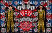 Gilbert & George, FORWARD, 2008. Mixed media, 381 x 604 cm. Courtesy of the artists and White Cube.
