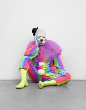 Ugo Rondinone, Vocabulary of Solitude. Sleep, 2014. Clown costume, mask. Studio Rondinone.