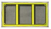 Roy Lichtenstein, Stretcher Frame with Vertical Bar, 1968. © Estate of Roy Lichtenstein / SIAE 2015.