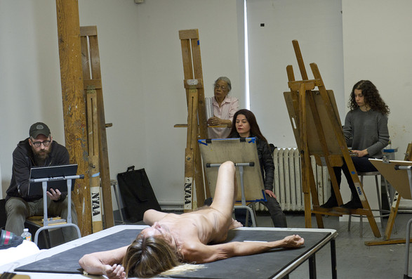 Iggy Pop Life Class at Brooklyn Museum