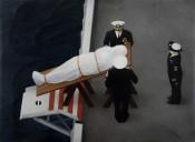 Kepa Garraza, The Burial 3 (study), 2016.Oil on canvas, 70 x 100 cm. Courtesy the artist/Galería ATM Altamira, Gijón.