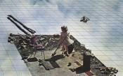 Superstudio, Atti Fondamentali. Vita - Supersuperficie. Pulizie di primavera, 1971.Lithograph. Courtesy Fondazione MAXXI.