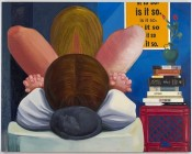 Nicole Eisenman, Is it So, 2014. Oil on canvas, 65 × 82 inches. Hall Collection. Courtesy the artist.