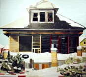 Nancy Mitchnick,13757 Buffalo Street, 2008.Oil on canvas, 99 x 88 inches. Courtesy of the artist.