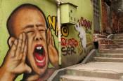 Angelo Campos, murals and grafitti made in Favela Vila Cruzeiro, Rio de Janeiro, 2011–16.Variable dimensions.Photo: João Paulo. Courtesy of the artist.