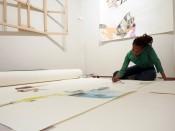 Studio artist ruby onyinyechi amanze in her studio at the Queens Museum. CourtesyQueens Museum.