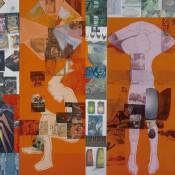 Robert Rauschenberg, The 1/4 Mile or 2 Furlong Piece(detail), 1981–98.Robert Rauschenberg Foundation. © 2016 Robert Rauschenberg Foundation.