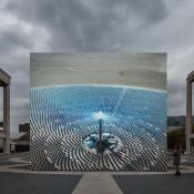 John Gerrard, Solar Reserve (Tonopah, Nevada) 2014, 2014. Simulation installation view, Lincoln Center, New York. Presented by Lincoln Center in association with Public Art Fund. Courtesy the artist, Thomas Dane Gallery, London and Simon Preston Gallery, New York.