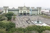 Rirkrit Tiravanija, Untitled (Remember JK, Universal Futurological Question Mark U. F. O., Plaza de la Constitución, Guatemala City), 2016. Courtesy kurimanzutto, Mexico D.F. Photo: Byron Marmol.