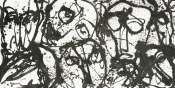 Yahon Chang, Faces Series, 2016.Ink on paper,125 x 245 cm.