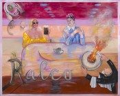Juan Dávila, Ralco, 2016.Oil on canvas, 200 x 250 cm. Courtesy Kalli Rolfe Contemporary Art, Melbourne.