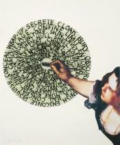 Agnès Thurnauer,Palindrome Gentileschi / Bochner,2015. Collage.