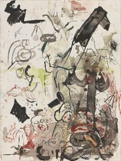 Cecily Brown, Untitled (After Bruegel), 2015. Ink and pastel on paper, 144.8 x 108 cm.